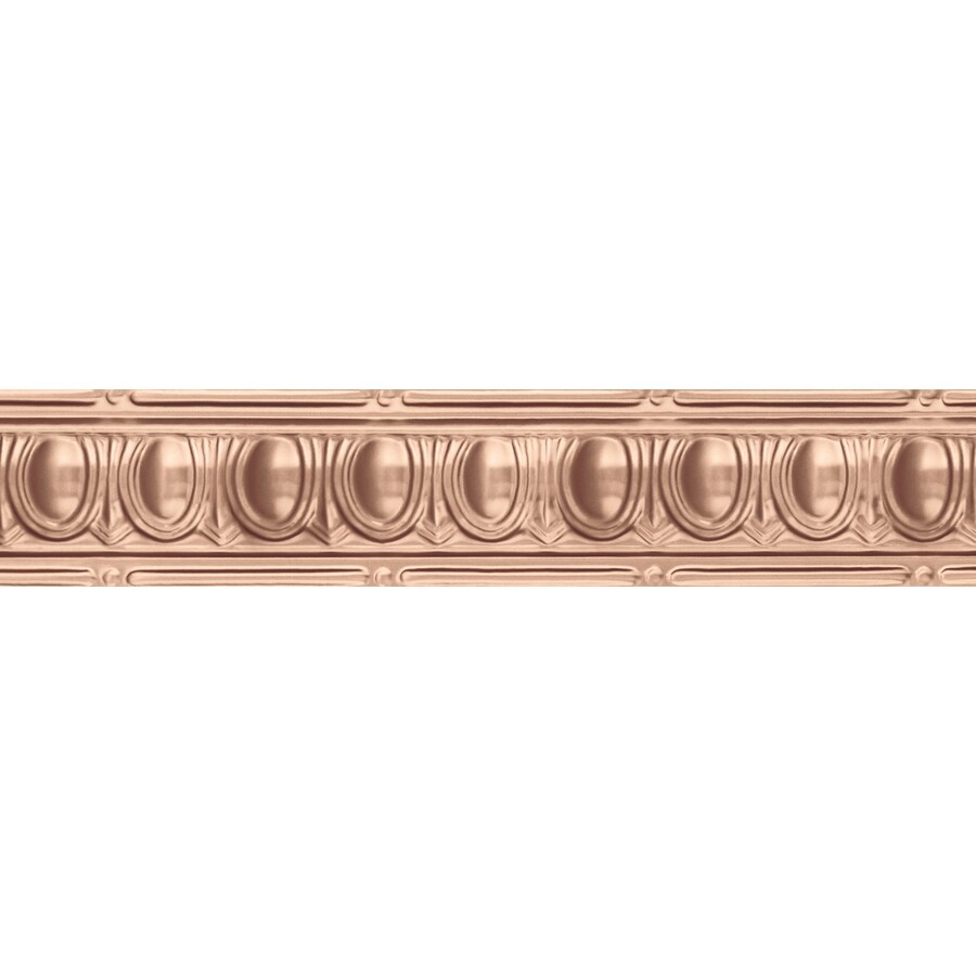 Ceiling Trim Lowes: Shop Armstrong Metallaire Copper Metal Metallic Ceiling