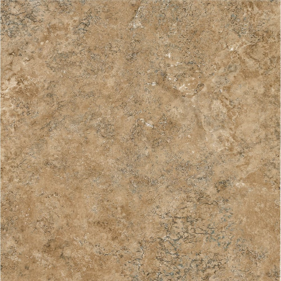 Armstrong Crescendo 12-in x 12-in Groutable Carmel Gold Peel-and-Stick Stone Residential Vinyl Tile