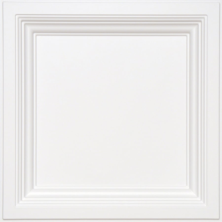Armstrong Easy Elegance White Coffered 15/16-in Drop Panel Ceiling Tiles (Common: 24-in x 24-in; Actual: 23.75-in x 23.75-in)