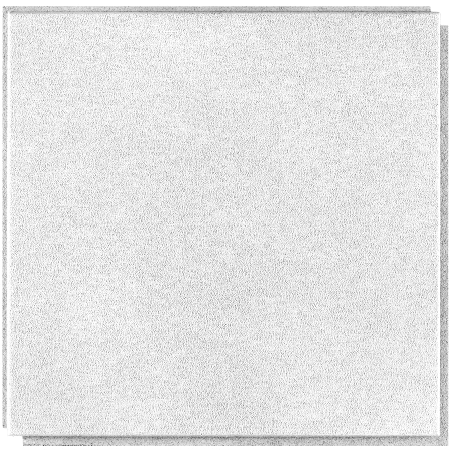 Armstrong Sahara HomeStyle 20-Pack White Smooth Surface-Mount Acoustic Ceiling Tiles (Common: 16-in x 16-in; Actual: 15.96-in x 15.96-in)