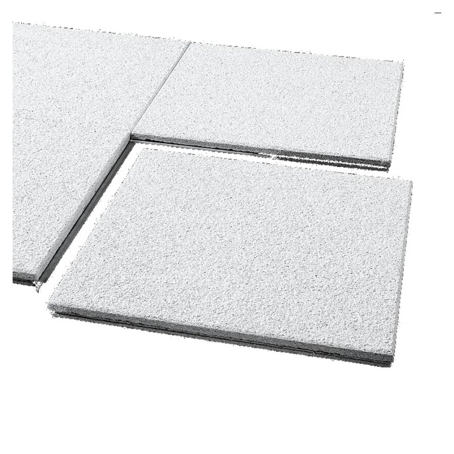 Shop Armstrong 12 Quot X 12 Quot Cirrus Concealed Beveled Ceiling Tile Panel At Lowes Com