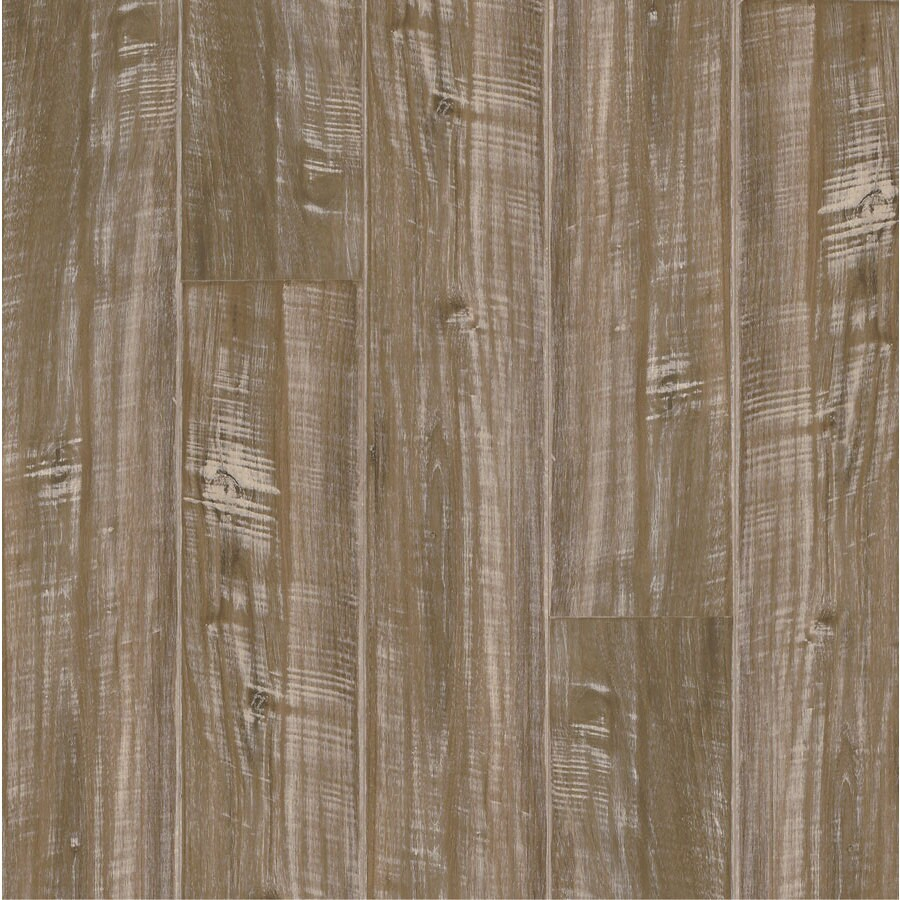 Armstrong Beveled Wood 5.31-in W x 3.95-ft L Driftwood Walnut Handscraped Laminate Wood Planks