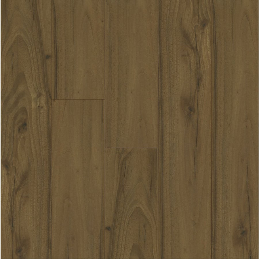 Armstrong 4.92-in W x 3.98-ft L Center-Cut Walnut High-Gloss Laminate Wood Planks