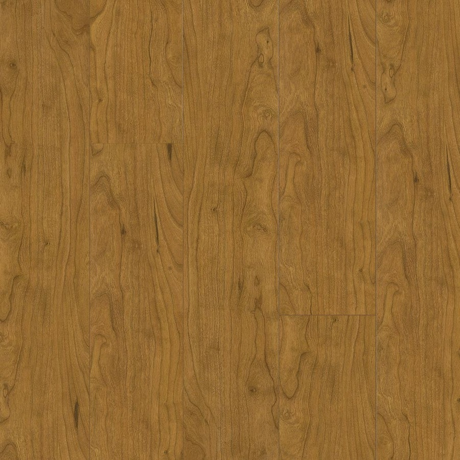Armstrong 5.31-in W x 3.98-ft L Washington Cherry High Gloss Laminate Wood Planks