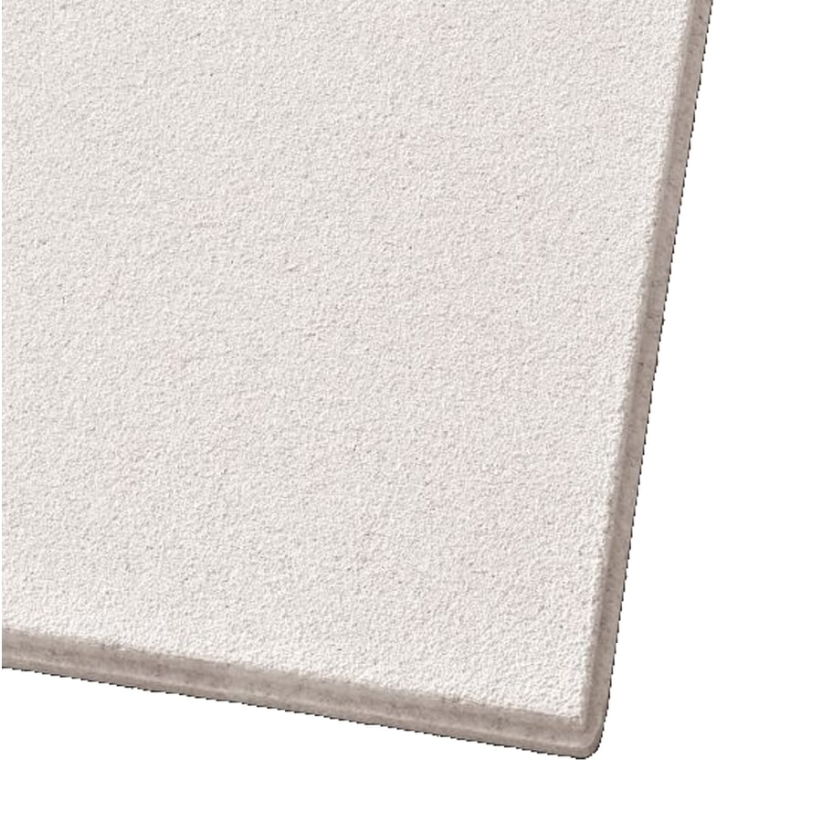 Armstrong Mesa 12-Pack White Smooth 9/16-in Drop Acoustic Panel Ceiling Tiles (Common: 24-in x 24-in; Actual: 23.745-in x 23.745-in)