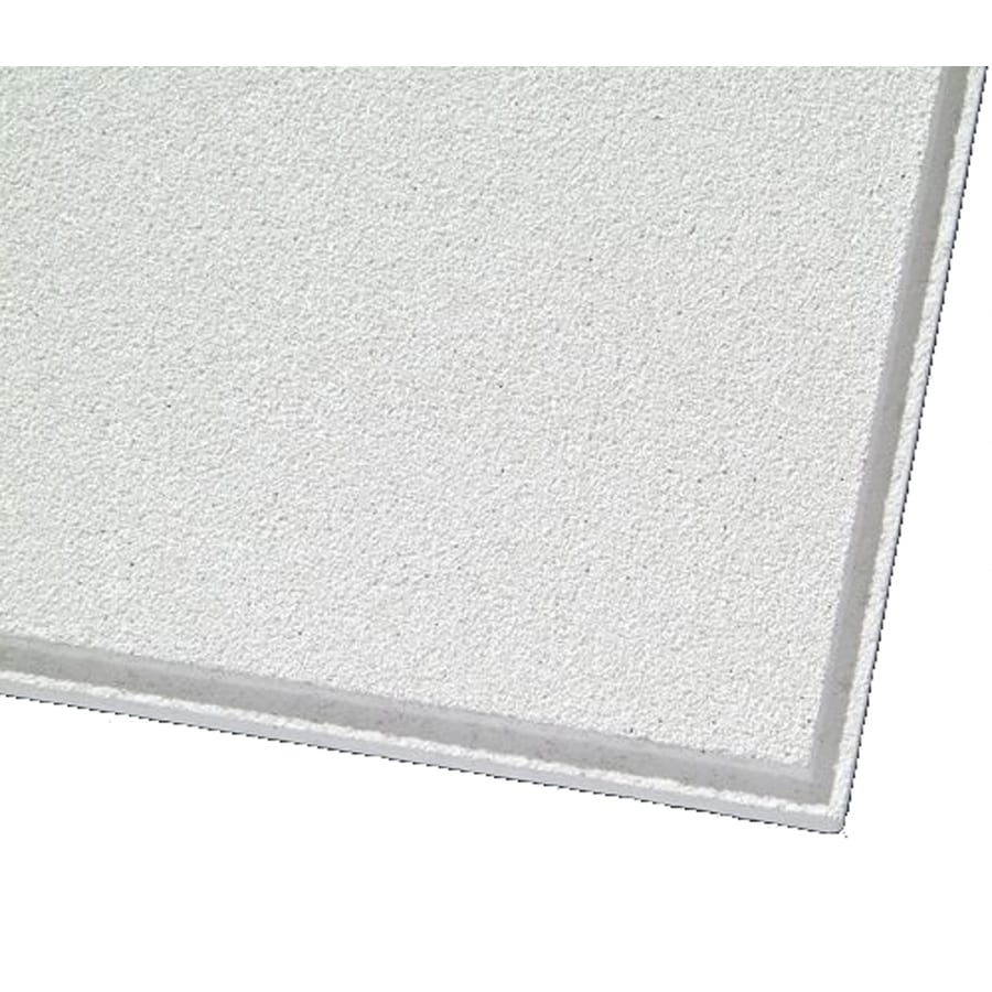Armstrong Mesa 12-Pack White Smooth 15/16-in Drop Acoustic Panel Ceiling Tiles (Common: 24-in x 24-in; Actual: 23.704-in x 23.704-in)
