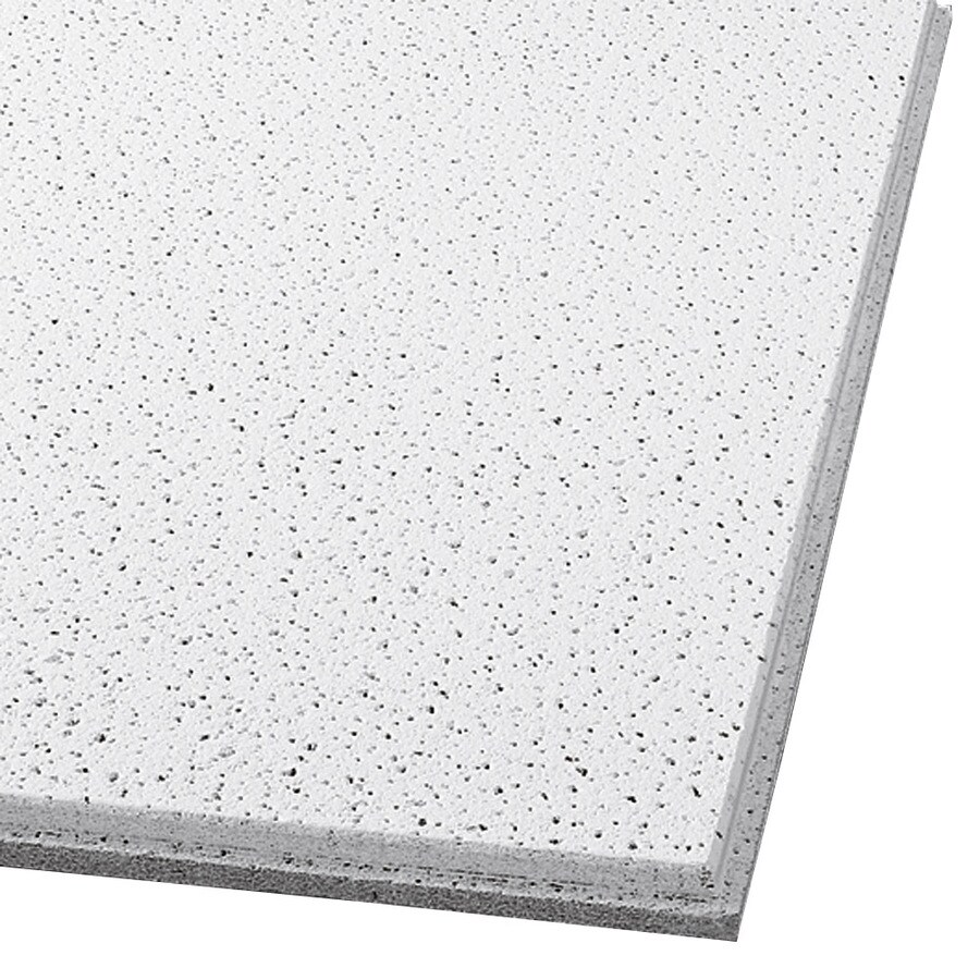 Armstrong Fine Fissured 12-Pack White Fissured 9/16-in Drop Acoustic Panel Ceiling Tiles (Common: 24-in x 24-in; Actual: 23.781-in x 23.781-in)