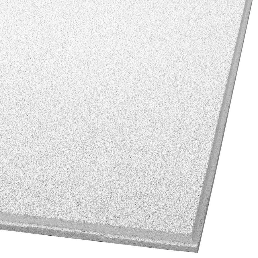 Armstrong Dune 12-Pack White Smooth 9/16-in Drop Acoustic Panel Ceiling Tiles (Common: 24-in x 24-in; Actual: 23.781-in x 23.781-in)