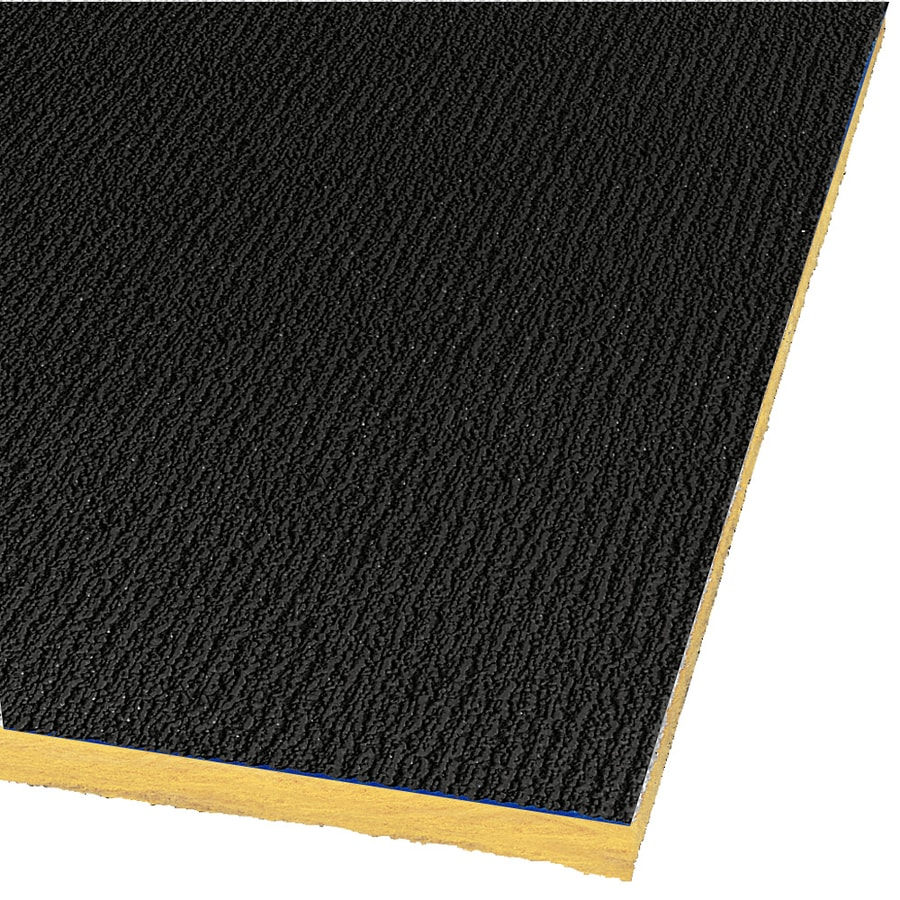 Armstrong Shasta 16-Pack Black Textured 15/16-in Drop Acoustic Panel Ceiling Tiles (Common: 48-in x 24-in; Actual: 47.719-in x 23.719-in)