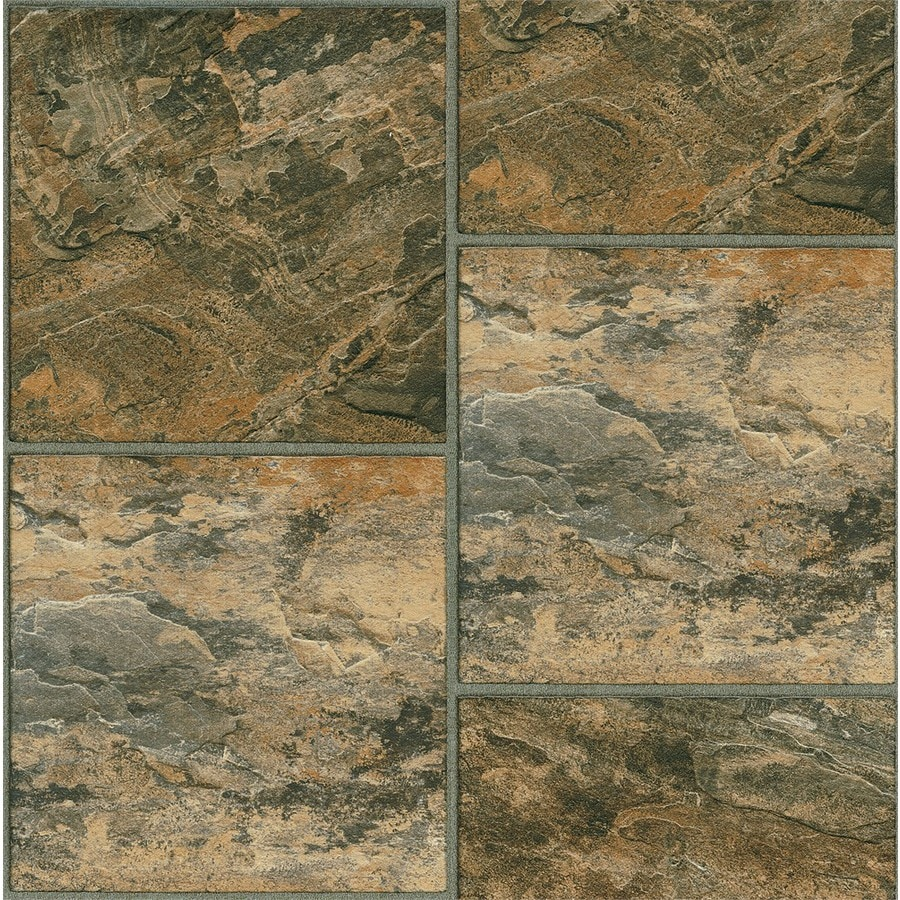 Shop armstrong exquisite 12 piece 12 in x 36 in bombay for Industrial stone vinyl tile