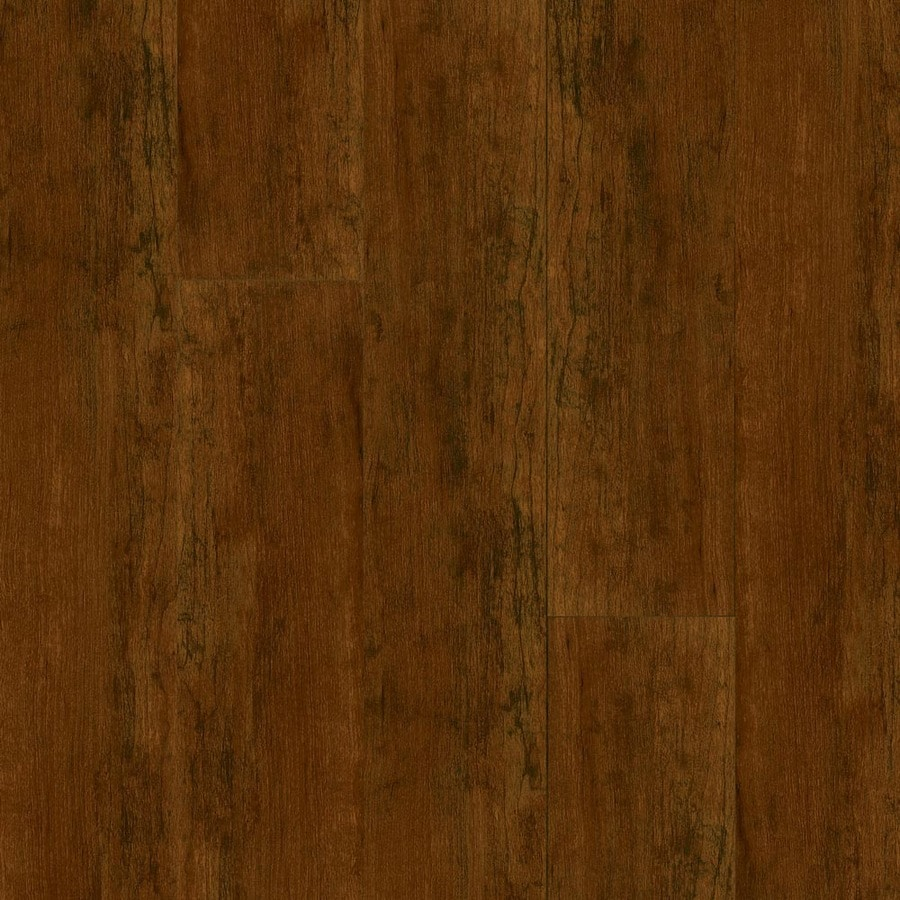 Armstrong High Gloss 4.92-in W x 3.93-ft L Aged Cherry Wood Plank Laminate Flooring