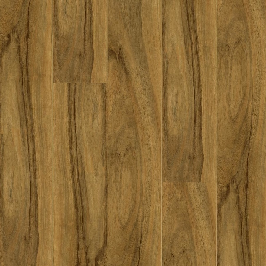 Armstrong High Gloss 4.92-in W x 3.93-ft L Woodland Walnut Wood Plank Laminate Flooring