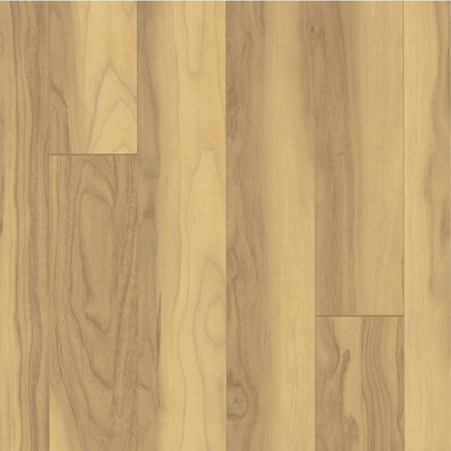 Armstrong Beveled Wood 4.92-in W x 3.98-ft L Noguera Walnut Smooth Laminate Wood Planks