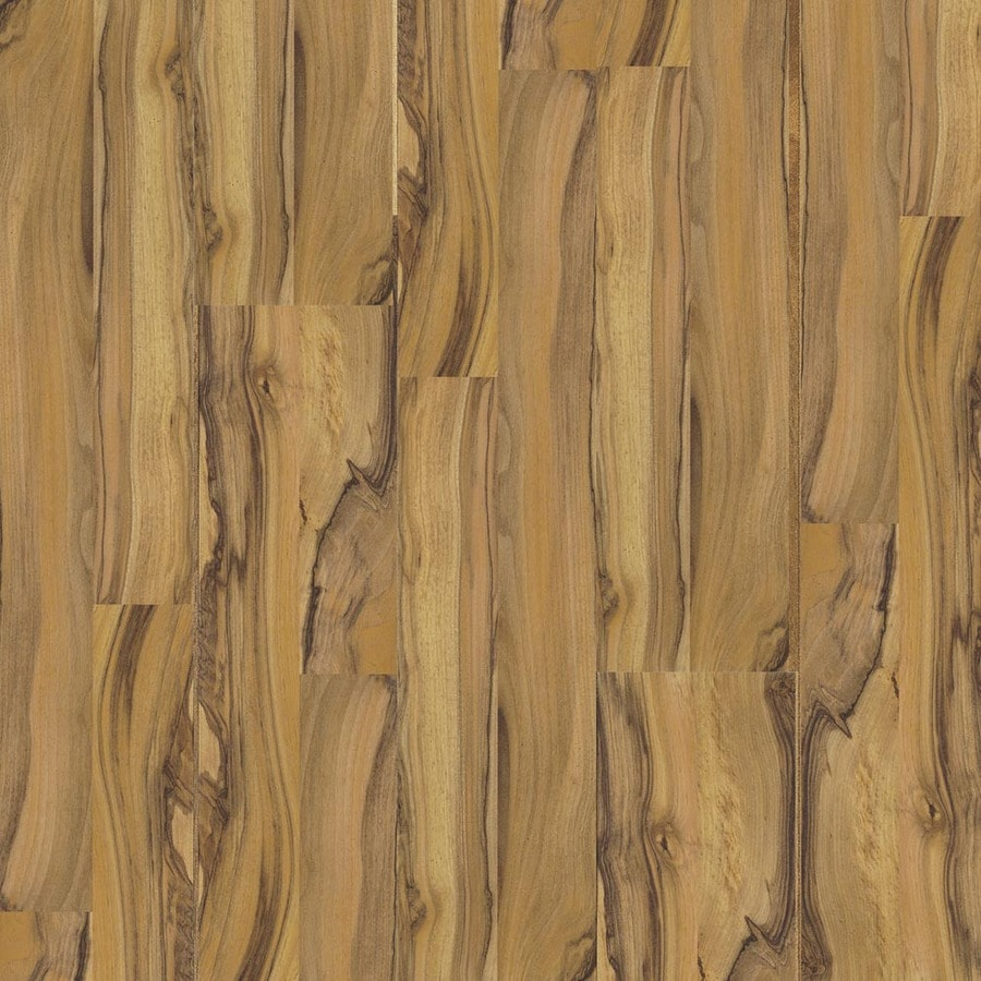 Armstrong 7.6-in W x 4.52-ft L Walnut Embossed Laminate Wood Planks