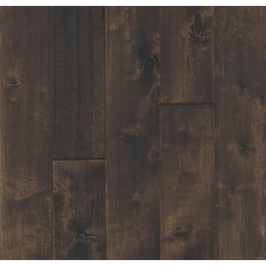 Robbins Hand-Sculpted 4.72-in W Prefinished Birch 3/4-in Solid Hardwood Flooring (Coventry Brown)