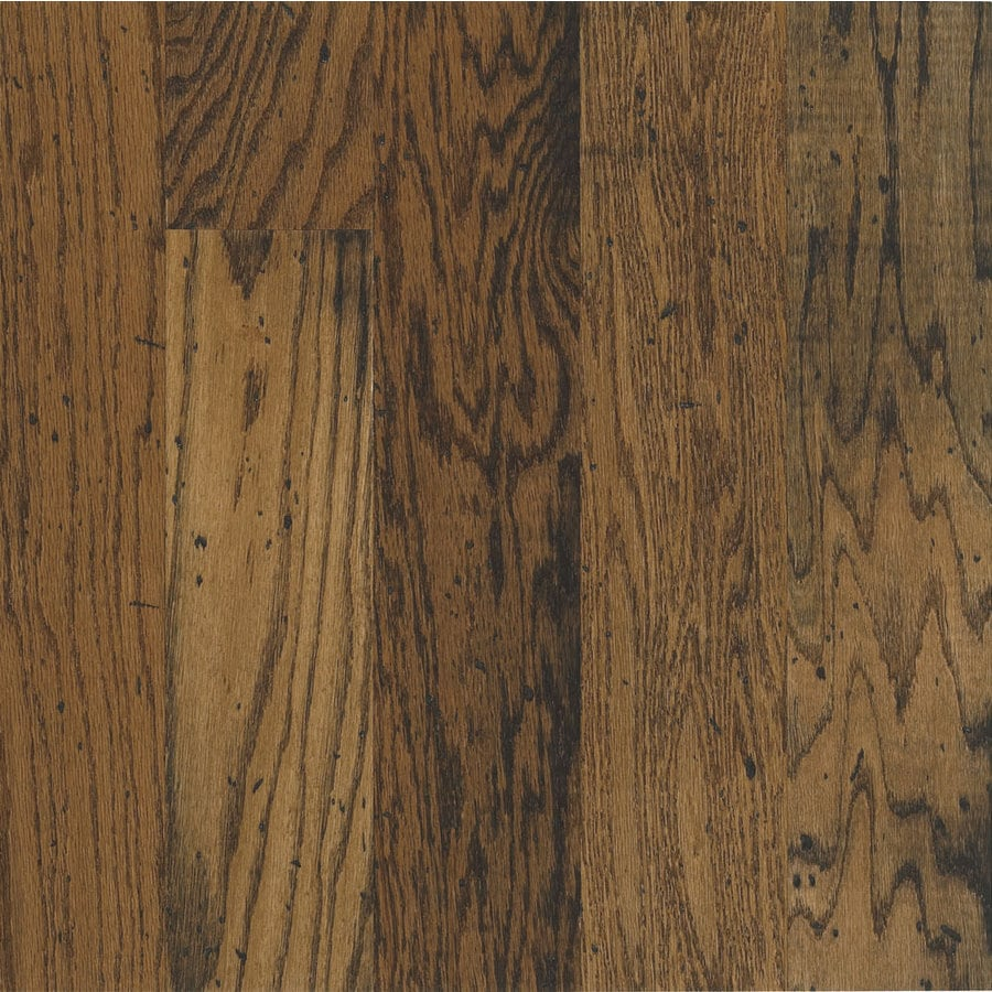 Shop bruce locking distressed durango oak hardwood for Hardwood floors at lowes