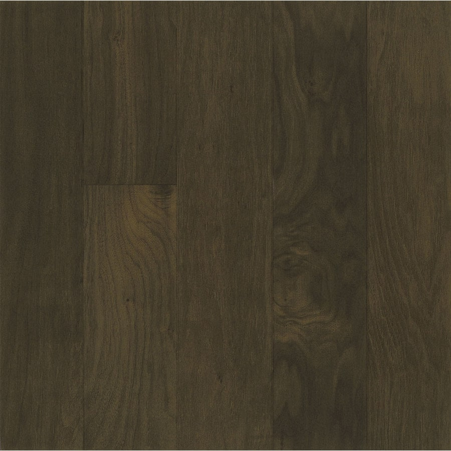 Shop hartco performance plus 5 in w prefinished walnut for Prefinished flooring