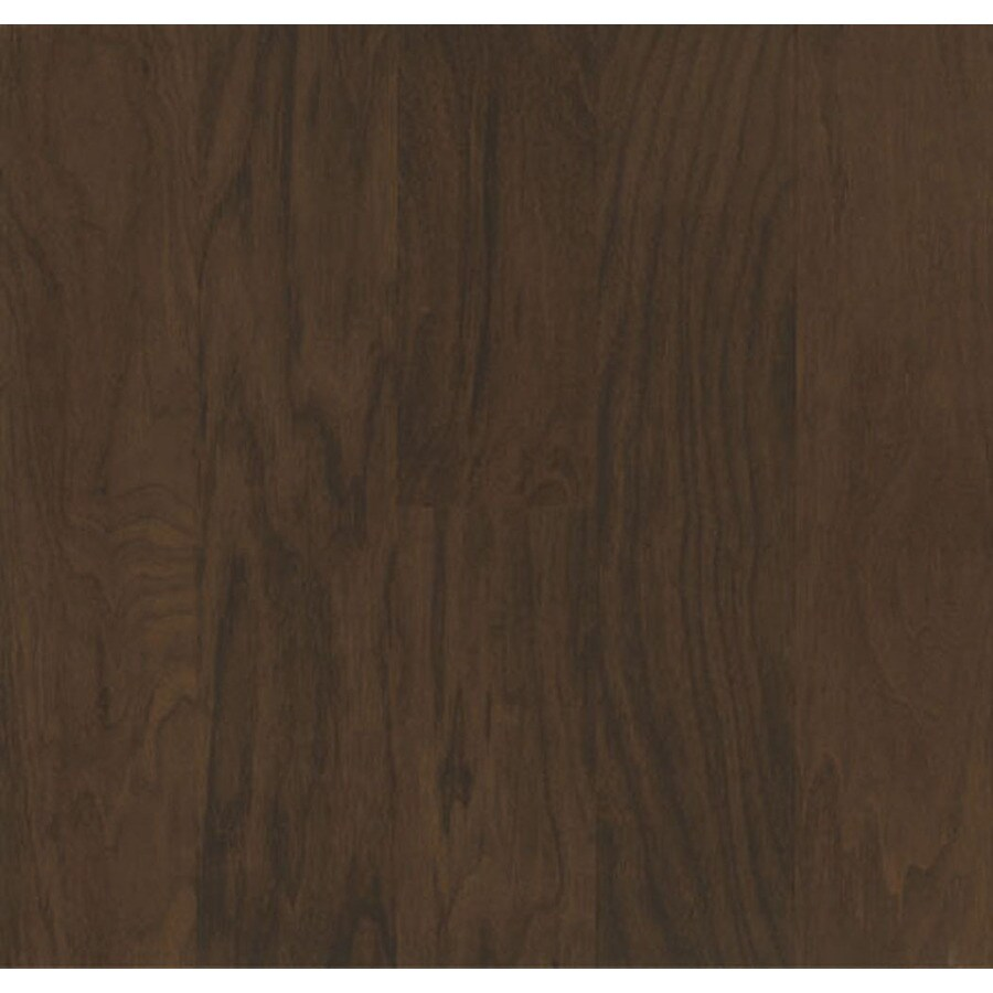 Shop bruce walnut hardwood flooring sample timber trail for Hardwood floors at lowes