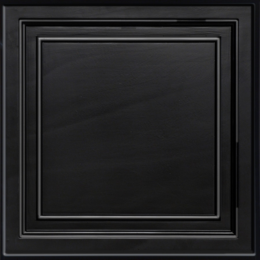 Armstrong Easy Elegance Black Coffered 15/16-in Drop Panel Ceiling Tiles (Common: 24-in x 24-in; Actual: 23.75-in x 23.75-in)