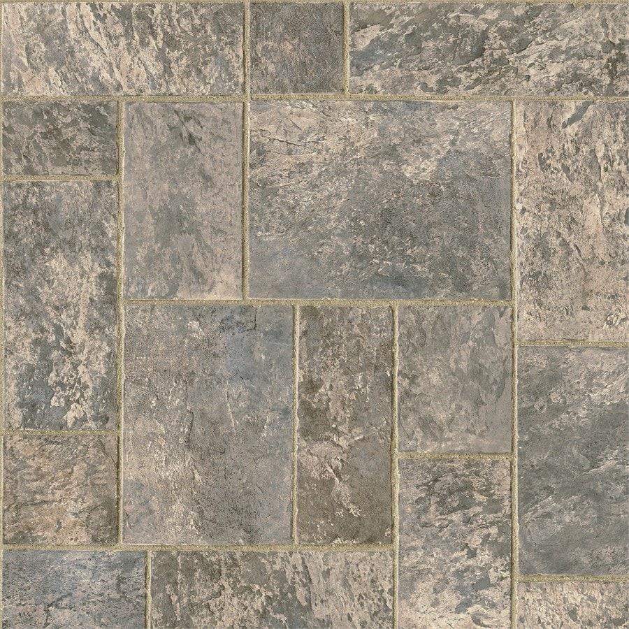 Armstrong 12-ft W Gray Brown Stone Low-Gloss Finish Sheet Vinyl