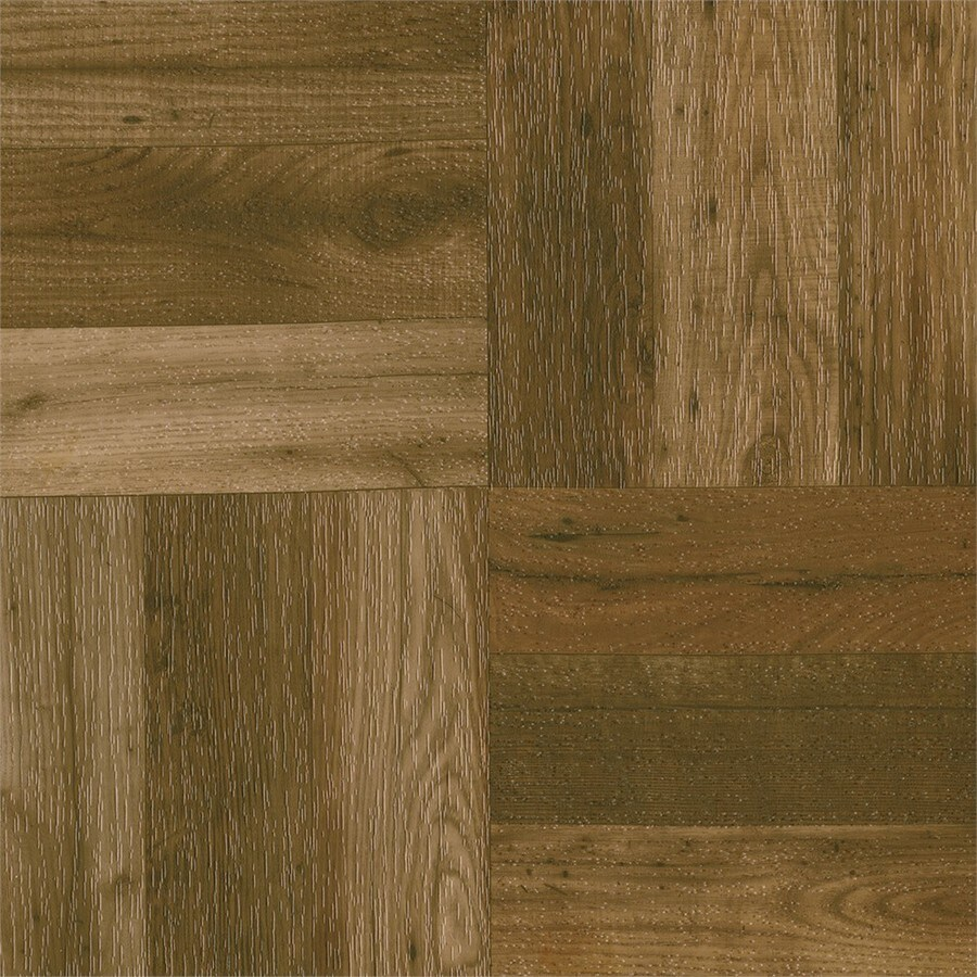 Armstrong Terraza 12-in x 12-in Parquet Wood Peel-And-Stick Vinyl Tile