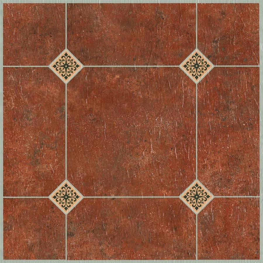 Style Selections 12-in x 12-in Adobe Peel-And-Stick Ceramic Vinyl Tile