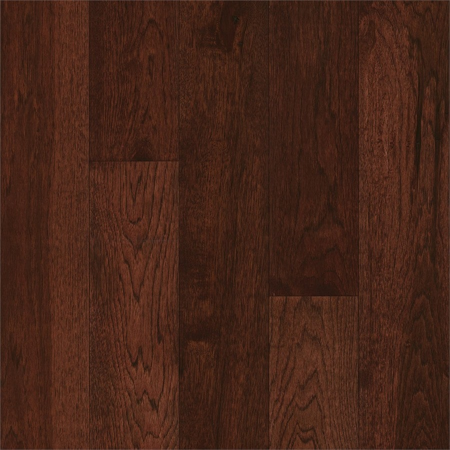 Shop bruce hickory hardwood flooring sample amber earth for Hardwood floors hickory
