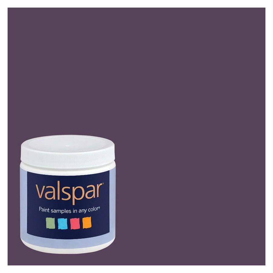 Valspar 8-oz Plum Good Interior Satin Paint Sample