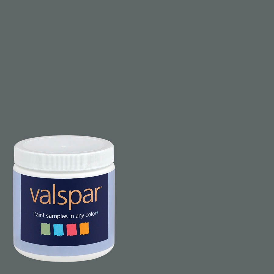 Valspar 8-oz Graphite Interior Satin Paint Sample