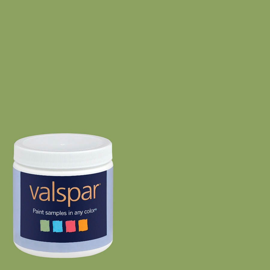Creative Ideas for Color by Valspar 8-oz Grass Stain Interior Satin Paint Sample