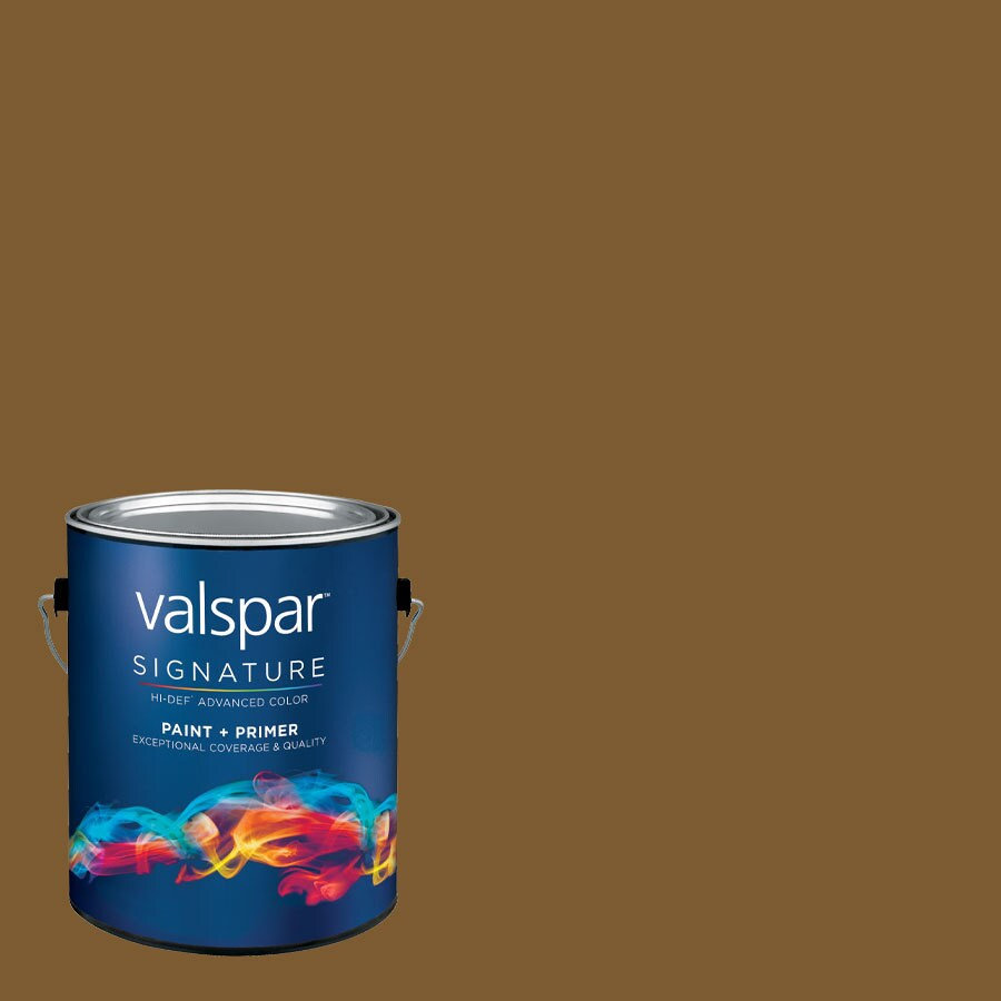 Creative Ideas for Color by Valspar Gallon Size Container Interior Matte Pre-Tinted Rich Mahogany Latex-Base Paint and Primer in One (Actual Net Contents: 126.14-fl oz)