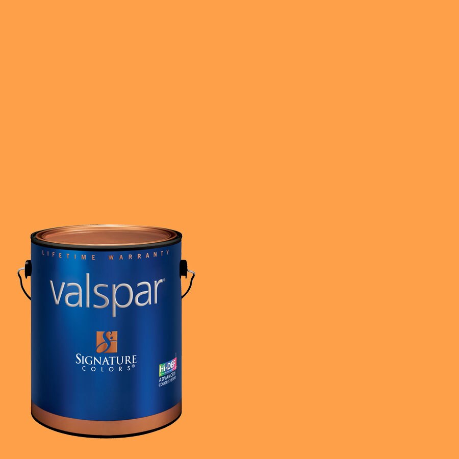 Creative Ideas for Color by Valspar 1-Gallon Interior Matte Orange Crush Latex-Base Paint and Primer in One
