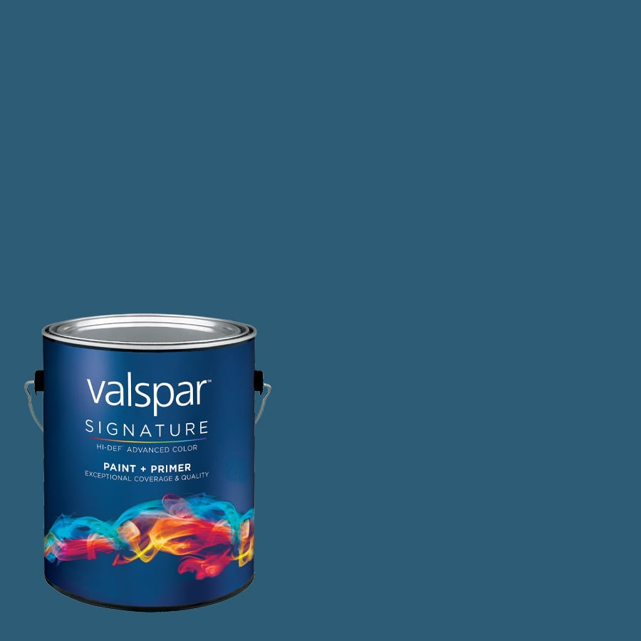 Creative Ideas for Color by Valspar Gallon Size Container Interior Eggshell Pre-Tinted Fine China Blue Latex-Base Paint and Primer in One (Actual Net Contents: 127.37-fl oz)
