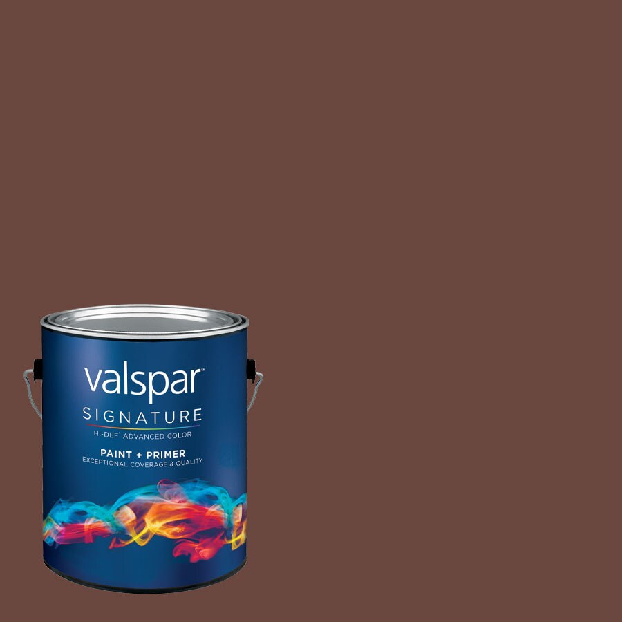 Creative Ideas for Color by Valspar Gallon Size Container Interior Satin Pre-Tinted Dark Truffle Latex-Base Paint and Primer in One (Actual Net Contents: 126.87-fl oz)
