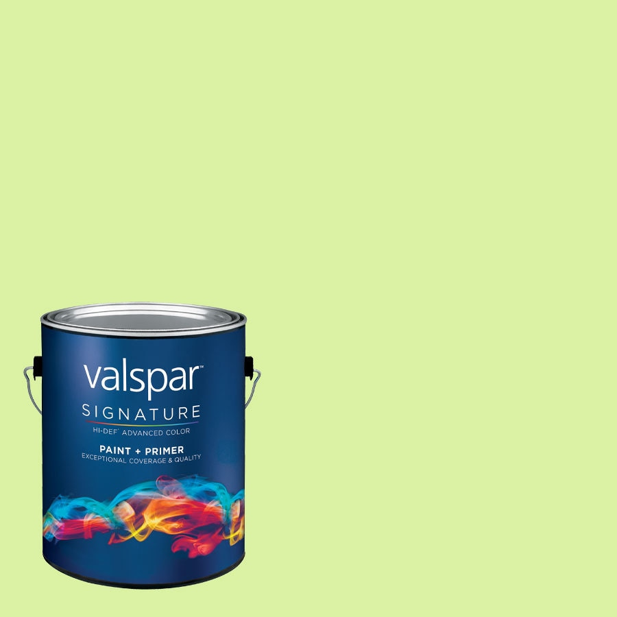 Creative Ideas for Color by Valspar Gallon Size Container Interior Satin Pre-Tinted Soothing Aloe Latex-Base Paint and Primer in One (Actual Net Contents: 130.07-fl oz)