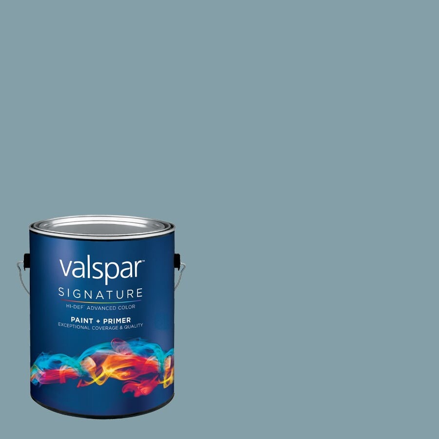 Creative Ideas for Color by Valspar 1-Gallon Interior Satin Stormy Cove Latex-Base Paint and Primer in One