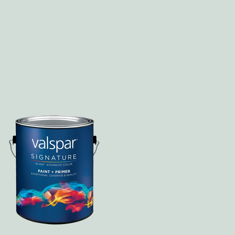 Creative Ideas for Color by Valspar Gallon Size Container Interior Satin Pre-Tinted Sea Salt Blue Latex-Base Paint and Primer in One (Actual Net Contents: 129.97-fl oz)