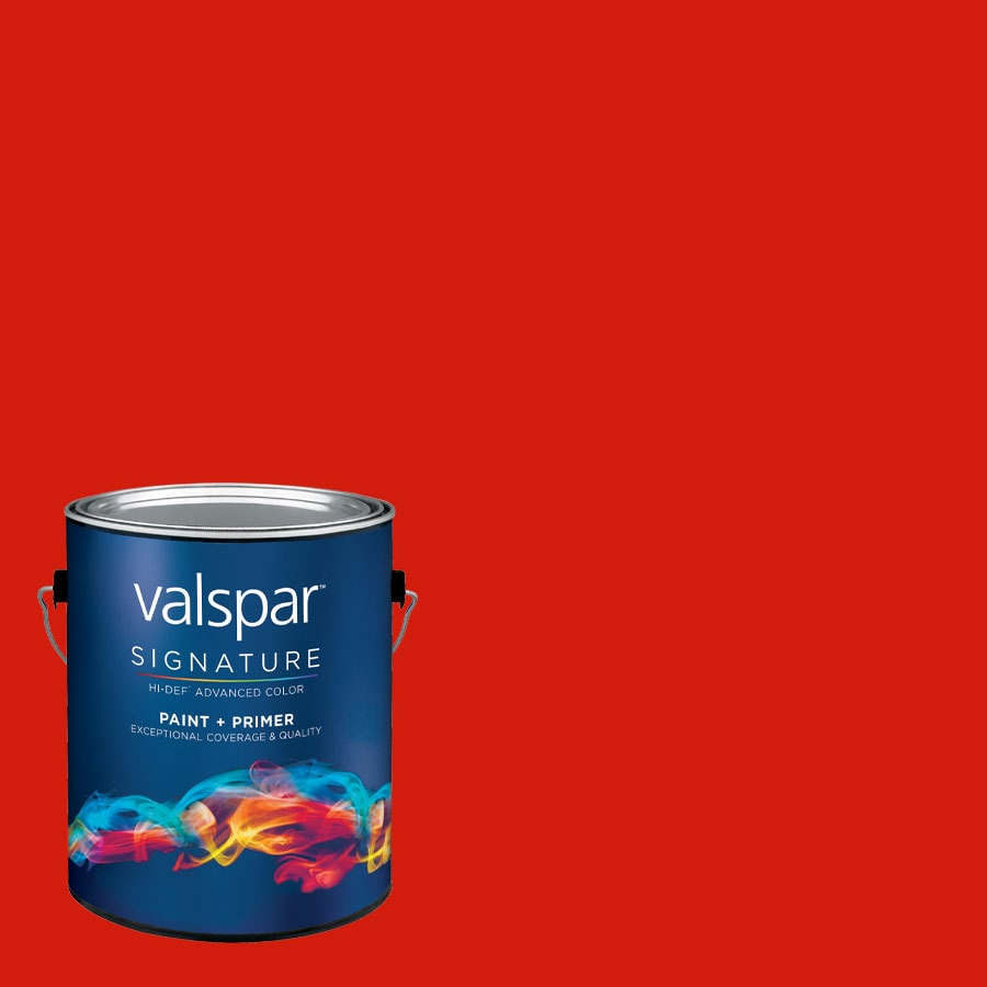 Creative Ideas for Color by Valspar Gallon Size Container Interior Satin Pre-Tinted Cherry Pickin Latex-Base Paint and Primer in One (Actual Net Contents: 123.34-fl oz)