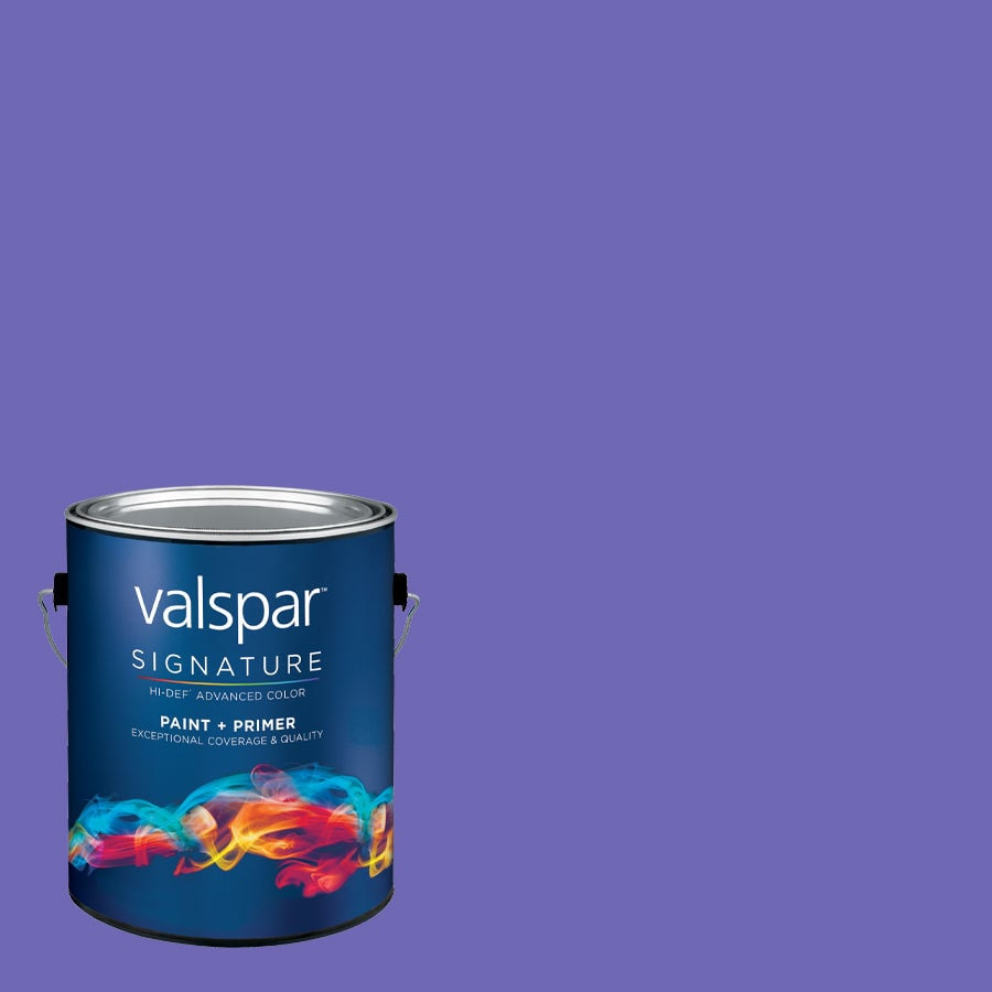 Creative Ideas for Color by Valspar Gallon Size Container Interior Satin Pre-Tinted Purpleberry Latex-Base Paint and Primer in One (Actual Net Contents: 128.14-fl oz)