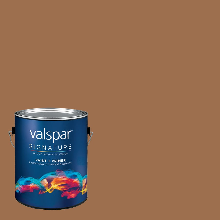 Creative Ideas for Color by Valspar Gallon Size Container Interior Semi-Gloss Pre-Tinted Cup Of Cocoa Latex-Base Paint and Primer in One (Actual Net Contents: 126.32-fl oz)
