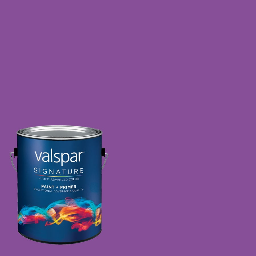 Creative Ideas for Color by Valspar Gallon Size Container Interior Semi-Gloss Pre-Tinted Grape Juice Latex-Base Paint and Primer in One (Actual Net Contents: 127.47-fl oz)
