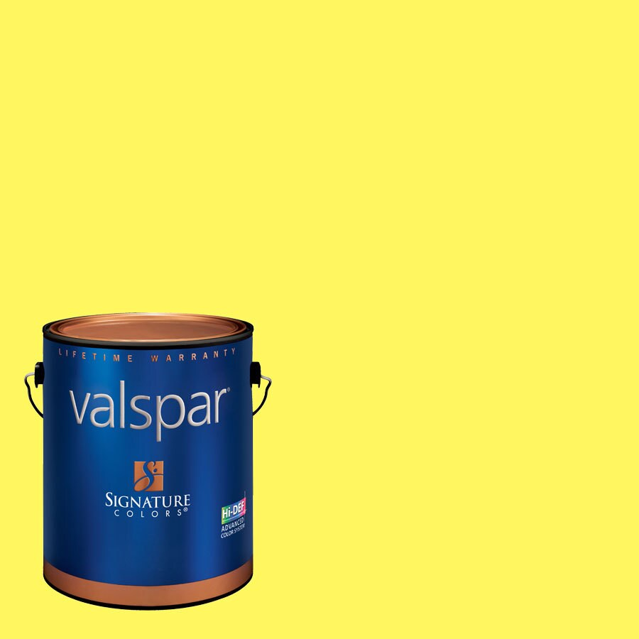 Creative Ideas for Color by Valspar Gallon Size Container Interior Semi-Gloss Pre-Tinted Gone Bananas Latex-Base Paint and Primer in One (Actual Net Contents: 127.9-fl oz)