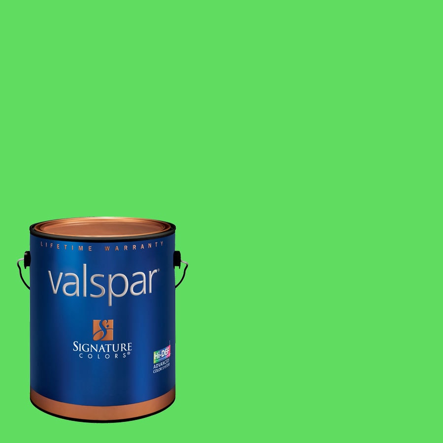 Creative Ideas for Color by Valspar Gallon Size Container Interior Semi-Gloss Pre-Tinted Tree Frog Green Latex-Base Paint and Primer in One (Actual Net Contents: 127.68-fl oz)