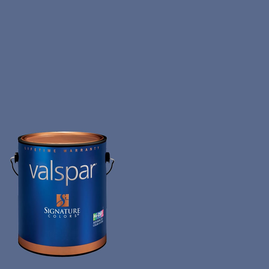 Creative Ideas for Color by Valspar Gallon Size Container Interior Eggshell Pre-Tinted Blue Hyacinth Latex-Base Paint and Primer in One (Actual Net Contents: 127.95-fl oz)