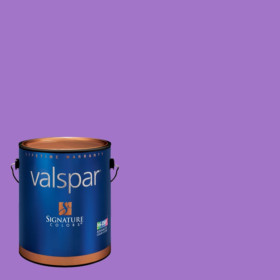 Creative Ideas for Color by Valspar Gallon Size Container Interior Eggshell Pre-Tinted Wild Grape Latex-Base Paint and Primer in One (Actual Net Contents: 127.11-fl oz)