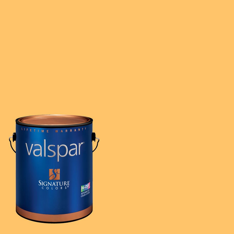 Creative Ideas for Color by Valspar Gallon Size Container Interior Satin Pre-Tinted Creamsicle Latex-Base Paint and Primer in One (Actual Net Contents: 127.98-fl oz)