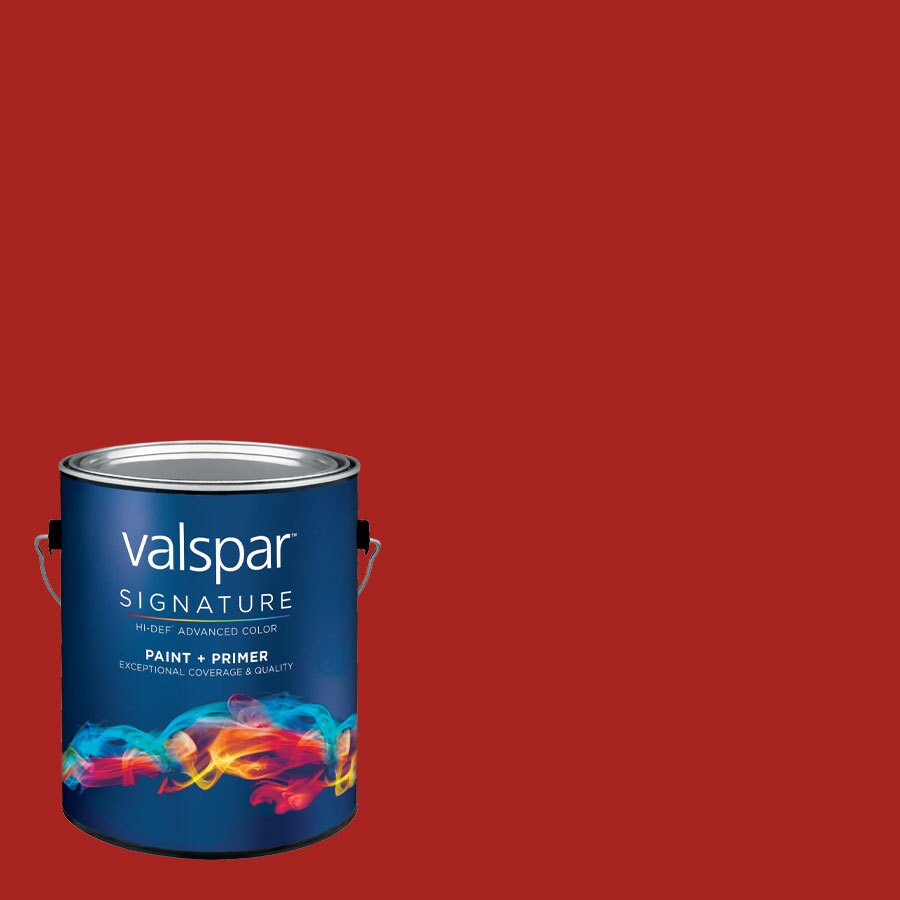 allen + roth Colors by Valspar Gallon Size Container Interior Satin Pre-Tinted Front Door Red Latex-Base Paint and Primer in One (Actual Net Contents: 128.81-fl oz)