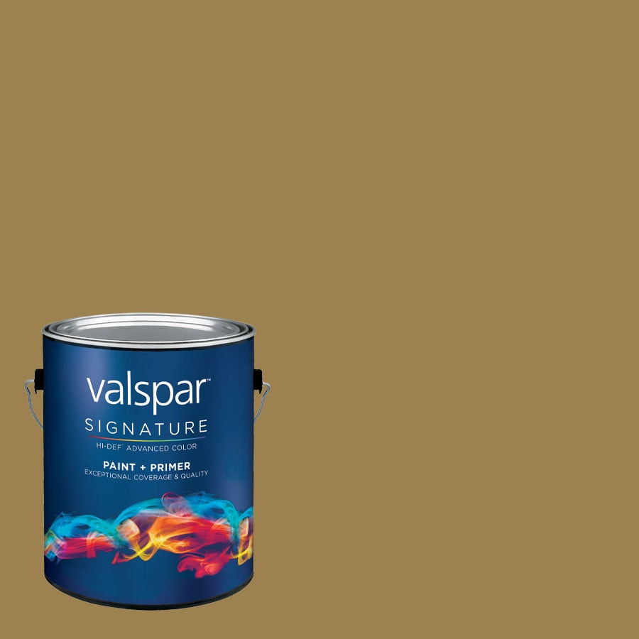 allen + roth Colors by Valspar Gallon Size Container Interior Semi-Gloss Pre-Tinted River Oaks Latex-Base Paint and Primer in One (Actual Net Contents: 128.71-fl oz)