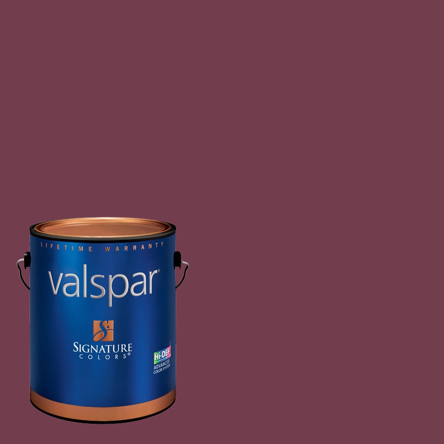 Valspar Gallon Size Container Interior Semi-Gloss Pre-Tinted Berry Brown Latex-Base Paint and Primer in One (Actual Net Contents: 130.25-fl oz)