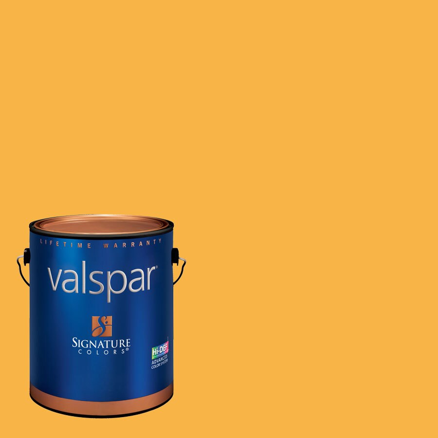 Valspar Gallon Size Container Interior Satin Pre-Tinted Brushed Orange Latex-Base Paint and Primer in One (Actual Net Contents: 128.16-fl oz)